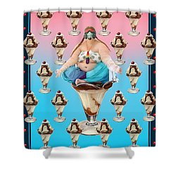 Sundae Girl Shower Curtain