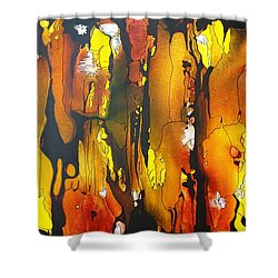 Shower Curtain featuring the painting Sundance by Pat Purdy