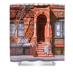 Sunday Afternoon East 7th Street Lower East Side Nyc Shower Curtain by Anthony Butera