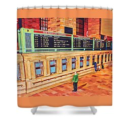 Sunday Am At Grand Central Shower Curtain