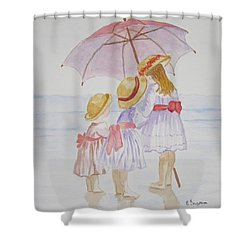 Sunday Best At The Beach Shower Curtain