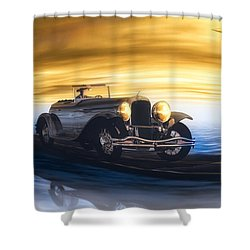 Sunday Drive Shower Curtain by Bob Orsillo