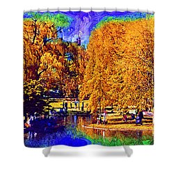 Sunday In The Park Shower Curtain by Kirt Tisdale