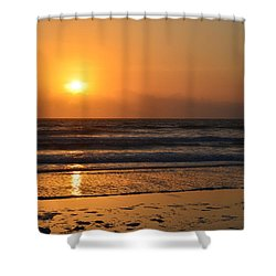 Shower Curtain featuring the photograph Sundays Golden Sunrise by DigiArt Diaries by Vicky B Fuller