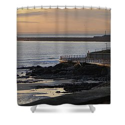 Sunderland Sunrise Shower Curtain by Julia Wilcox