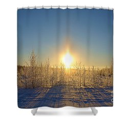 Sundogs In Winter Wonderland Shower Curtain