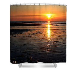 Sundown At The North Sea Shower Curtain