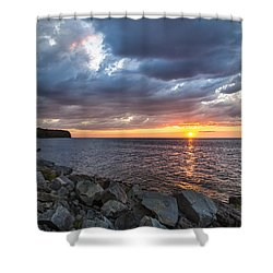 Sundown Bay Shower Curtain by Bill Pevlor
