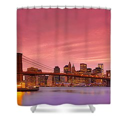 Sundown City Shower Curtain by Midori Chan