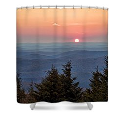 Shower Curtain featuring the photograph Sundown From Spruce Knob by Jaki Miller