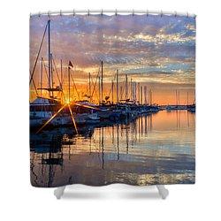 Sundown Shower Curtain by Heidi Smith