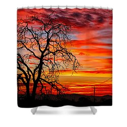 Sundown On Jeffcoat Shower Curtain