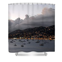 Sundown On St. Thomas Shower Curtain