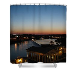 Shower Curtain featuring the photograph Sundown On The Schuylkill by Christopher Woods