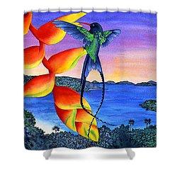 Sundowner At Cinnamon Shower Curtain by Carolyn Steele