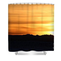Shower Curtain featuring the photograph Sundre Sunset by Ann E Robson
