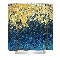 Sundrenched Trees Shower Curtain