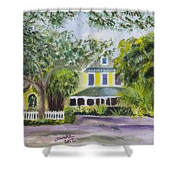 Sundy House In Delray Beach Shower Curtain by Donna Walsh