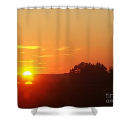Shower Curtain featuring the photograph Sundown by Jasna Dragun
