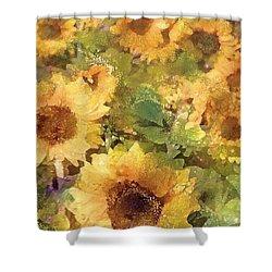Sunflower 29 Shower Curtain by Pamela Cooper