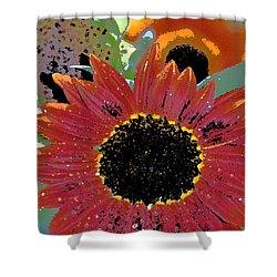 Sunflower 31 Shower Curtain by Pamela Cooper