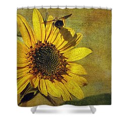 Sunflower And Bumble Bee Shower Curtain