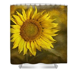 Sunflower And Sunshine  Shower Curtain by Ivelina G