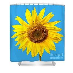 Sunflower Blue Sky Shower Curtain