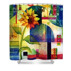 Sunflower Collage Shower Curtain