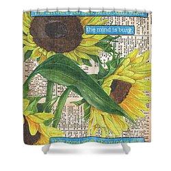 Sunflower Dictionary 1 Shower Curtain by Debbie DeWitt