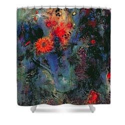 Sunflower Shower Curtain by Jane Deakin