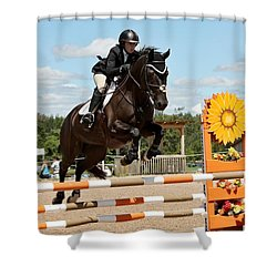 Sunflower Jumper Shower Curtain