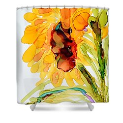 Sunflower Left Face Shower Curtain