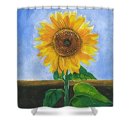 Shower Curtain featuring the painting Sunflower Series Two by Thomas J Herring