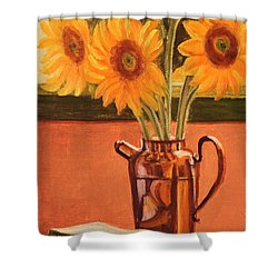 Sunflower Still Life Shower Curtain