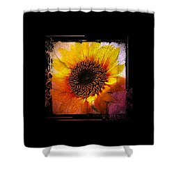 Shower Curtain featuring the digital art Sunflower Sunset - Art Nouveau  by Absinthe Art By Michelle LeAnn Scott