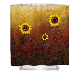 Sunflowers 2 Shower Curtain by Carmen Guedez