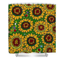 Sunflowers 2 Shower Curtain by Rojax Art