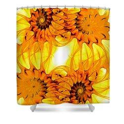 Sunflowers Shower Curtain by Anastasiya Malakhova