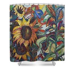 Sunflowers Shower Curtain by Avonelle Kelsey