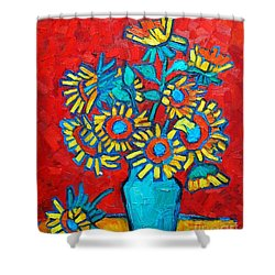 Sunflowers Bouquet Shower Curtain