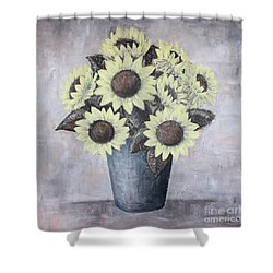 Sunflowers Shower Curtain by Home Art
