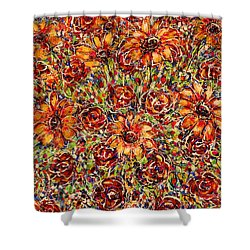 Sunflowers  Shower Curtain by Natalie Holland