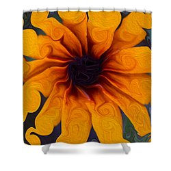 Shower Curtain featuring the painting Sunflowers On Psychadelics by Omaste Witkowski