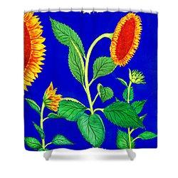 Sunflowers Shower Curtain by Irina Sztukowski