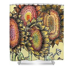 Sunflowers Revisited Shower Curtain