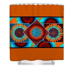Sunflowers  Shower Curtain by Sherry Flaker