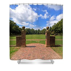 Shower Curtain featuring the photograph Sunken Garden At William And Mary by Jerry Gammon