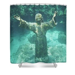 Sunken Savior Shower Curtain by Robert ONeil