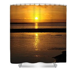 Shower Curtain featuring the photograph Sunkist Sunset by Athena Mckinzie